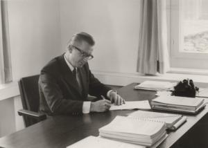 Gemeindepräsident Fridolin Hubert ca. 1965